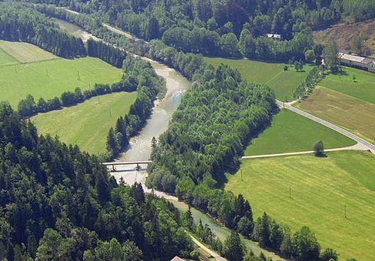 Die Ybbs im Bereich zwischen Opponitz und Hollenstein (Mittellauf)